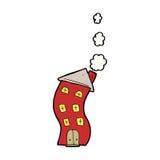 funny cartoon house Stock Photography