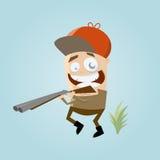 Funny cartoon hunter Royalty Free Stock Photos