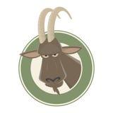 Funny cartoon ibex Royalty Free Stock Photography