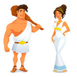 Funny cartoon illustration from Greek history Stock Images