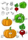 Funny cartoon isolated fresh veggies Stock Image