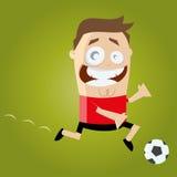 Funny cartoon kicker. Funny illustration of a funny kicker Stock Images