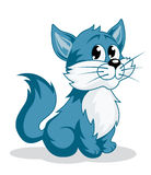 Funny cartoon kitten Royalty Free Stock Image