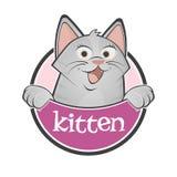 Funny cartoon kitten Royalty Free Stock Photo
