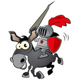 Funny cartoon knight Royalty Free Stock Images