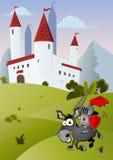 Funny cartoon knight Royalty Free Stock Photos