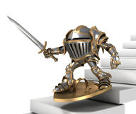 Funny cartoon knight Royalty Free Stock Photo