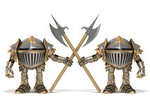 Funny cartoon knight Guards Royalty Free Stock Photo