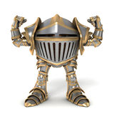 Funny cartoon knight Strongman Royalty Free Stock Photo