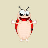 Funny cartoon of a laughing bee. Royalty Free Stock Photography