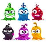 Funny cartoon liquid characters Royalty Free Stock Photo