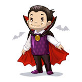 Funny cartoon little vampire Stock Photos