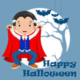 Funny cartoon little vampire Royalty Free Stock Photo