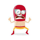 Funny cartoon luchador Royalty Free Stock Image
