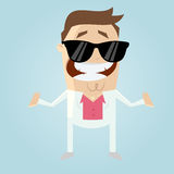 Funny cartoon macho Royalty Free Stock Photos