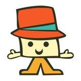 Funny cartoon male character Royalty Free Stock Photo