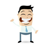 Funny cartoon man is beckoning Stock Images