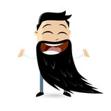 Funny cartoon man with a big beard Royalty Free Stock Photography