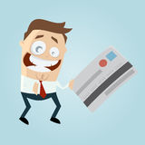 Funny cartoon man with credit card Royalty Free Stock Photo