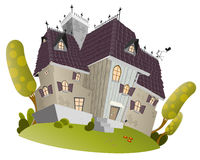 Funny cartoon mansion Stock Photography