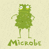 Funny cartoon microbe Stock Images