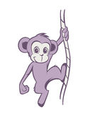 Funny cartoon Monkey Stock Photo