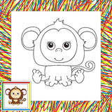 Funny cartoon monkey Royalty Free Stock Photos