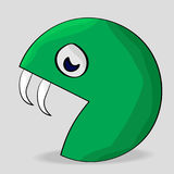 Funny Cartoon Monster. On gray background Stock Photography