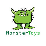Funny cartoon monster icon in  format over white isolated background Royalty Free Stock Photography