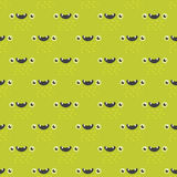 Funny cartoon monster seamless pattern alien character creature happy illustration devil colorful animal background Stock Photos