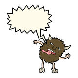 funny cartoon monster with speech bubble Stock Photos