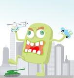 Funny cartoon monster. Vector illustration background Stock Photo