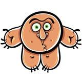 Funny cartoon monster, vector illustration. Royalty Free Stock Image