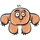 Funny cartoon monster, vector illustration. Stock Image