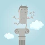 Funny cartoon monument. Funny cartoon illustration of a monument Royalty Free Stock Photo