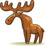 Funny cartoon moose Stock Photos