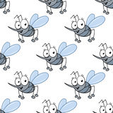 Funny cartoon mosquitos seamless pattern Stock Photography