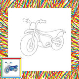 Funny cartoon motorcycle. Coloring book for kids Royalty Free Stock Image