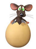 Funny cartoon mouse Stock Photo