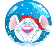 Funny cartoon mouse Stock Photo