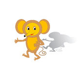 Funny cartoon mouse Stock Photography