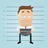 Funny cartoon mugshot. Funny cartoon illustration of a mugshot vector illustration