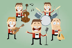 Funny cartoon music band stock illustration