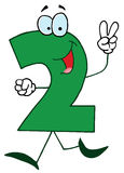 Funny Cartoon Numbers-2 vector illustration