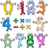 Funny Cartoon Numbers. Useful also for educational or preschool books for kids. Eps file available stock illustration