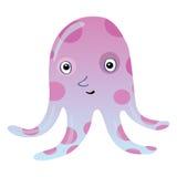 Funny cartoon octopus Stock Photo
