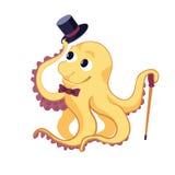 Funny cartoon octopus Stock Photography