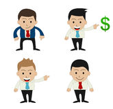 Funny cartoon office businessman Royalty Free Stock Photography