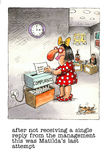 Funny cartoon about office life. Cartoon gag about staff complaints in the officee royalty free illustration