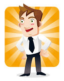 Funny cartoon office worker Stock Photo